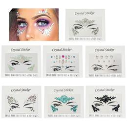 Acrylic Resin Crystal Face Body Gems Rhinestone Temporary Tattoo Jewels Eye  Glitter Festival Party Glitter Stickers Flash ed6e6167a87b