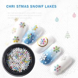 $enCountryForm.capitalKeyWord NZ - 1 Box Colorful Nail Art Christmas Snowflake Glitter Mixed 3D Sequins Design Manicure Decorations Fashion DIY Decals Decor