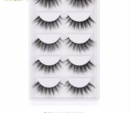 hand pack NZ - 5 Pairs pack High Quality 3d Lashes Hair Soft Synthetic Hair False Eyelashes Professional Make Up Eye Lashes