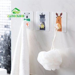$enCountryForm.capitalKeyWord Australia - wholesale Cartoon Animal Adhesive Hook Wall Hanging Paste Hook Kitchen Wall Strong Seamless