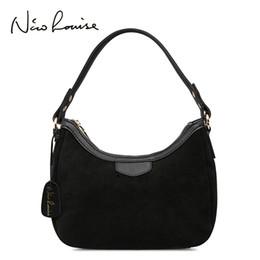 $enCountryForm.capitalKeyWord Australia - 2018 New Women Real Suede Leather Small Shoulder Bag Brand Female Leisure Cossbody Hobo Handbag For Lady Blosa Top-handle Bags Y19061705