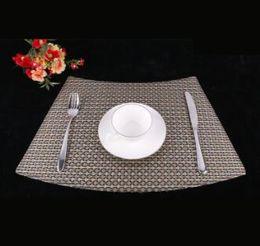 $enCountryForm.capitalKeyWord Australia - Table Placemats PVC Dining Table Mat Wedge Place Mat Heat Resistant Table Mats Washable CUP MAT coaster Decoration 33*51cm 1set 10pcs=1color