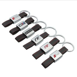 $enCountryForm.capitalKeyWord Australia - Keychain Keyring Key Chain Key Ring Metal Leather Car Touran Styling A great gift for yourself and your relatives and friends