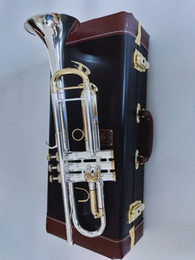 Wholesale New Bach Trumpet Best quality LT180S-72 Trumpet B Flat Silver Plated Professional Trumpet Musical Instruments Gift