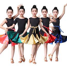 $enCountryForm.capitalKeyWord Australia - Girls Latin Dance Dress Ballroom Dance Competition Kids Dresses for Girl Fringe Fringe Stage Performance Clothing Gatsby Costume