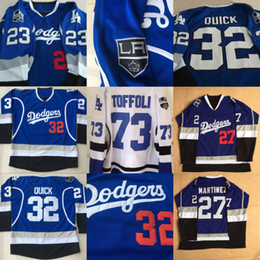 Wholesale free drawings for sale - Group buy Jonathan Quick Los Angeles Blue Limited Hockey Jersey Jeff Carter Drew Doughty Jersey Any Name and Any Number