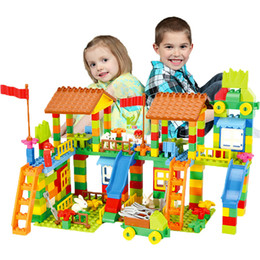 Park Block Australia - 226 PCS Big Building Blocks ABS Children Educational DIY Amusement Park Assemble Bricks Compatible LegoINGlys Duploe Blocks