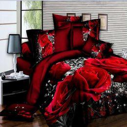 $enCountryForm.capitalKeyWord Australia - 4pcs Bedding Sets Bed Duvet Cover Bed Sheet Pillowcase 3D Soccer Rose Horse Print Set Bedclothes for Kids Adults Duvet Cover