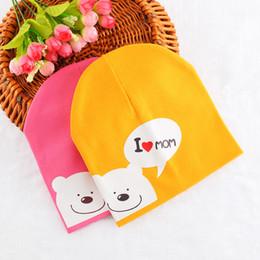 $enCountryForm.capitalKeyWord Australia - I Love Mom Baby Hat for Girls Boys Cotton Knit Hat Children Kids Sleeve Cap Chapeau Toddler Baby Cap Baby Clothing
