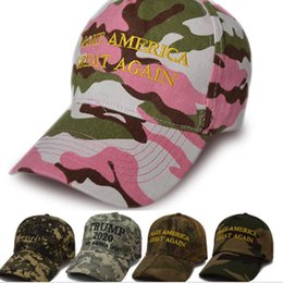 make watermelon balls NZ - 5 style camouflage trump 2020 baseball cap outdoor embroidery Make America Great Again hat sports hat FJJ273