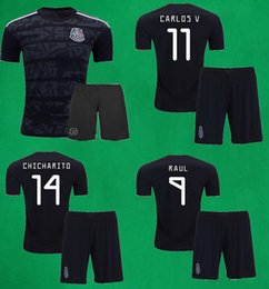 $enCountryForm.capitalKeyWord Canada - 2019 Mexico Soccer Jersey Shorts 19 20 CHICHARITO MARQUEZ DOS SANTOS LAYUN LOZANO Soccer Sets Mens Thai Quality Black Football Kits