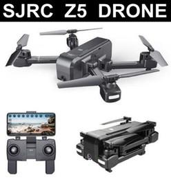 Wifi Camera Toy Australia - SJRC Z5 Drone with Camera 1080P GPS Drone 2.4G 5G Wifi FPV Altitude Hold Quadrocopter Follow Me RC Quadcopter vs E58 X12 XS812