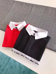 long collar shirts for girl 2019 - School Kids Blouses Shirt For Girls Children Clothing Long Sleeve Cotton Teenage Tops Size 2-14 Years Presale in mid of