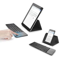 $enCountryForm.capitalKeyWord Australia - Portable Twice Folding Bluetooth Keyboard BT Wireless Foldable Touchpad Keypad for IOS Android Windows ipad Tablet