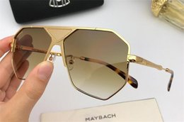 11617d09a6 New fashion MAYBACH sunglasses 1069frame hollow plate frame avant-garde  design style top quality uv protection eyewear with box