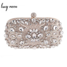 $enCountryForm.capitalKeyWord Australia - Luxy Moon Evening Bags Diamond Rhinestone Pearls Beaded Wedding Clutch Women's Purse Handbags Wallets Evening Clutch Bag Bolsa Y190626