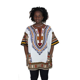 traditional african prints designs Australia - New fashion design african traditional printed 100% cotton Dashiki T-shirts for unisex tops