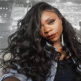 pretty hair for Canada - Top Quality short Pretty discount 100% unprocessed remy virgin human hair long natural color loose wave full lace cap wig for black women