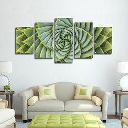 $enCountryForm.capitalKeyWord NZ - Modern Modular Canvas HD Print Wall Art Pictures 5 Pieces Plant Spiral Aloe Painting Home Decor Living Room Poster Frame Artwork