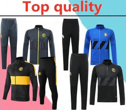 survetement football UK - 2019 2020 inter ICARDI Tracksuit 18-19-20 ICARDI maillot de football SKRINIAR soccer survetement PERISIC long zipper jacket tracksuit