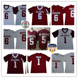 2018 New Mens NCAA Oklahoma Sooners Kyler Murray College Football Stiched   5 Marquise Brown  6 Baker Mayfield Oklahoma Sooners Jersey S-3XL 22af3cd55