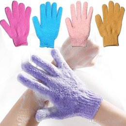 $enCountryForm.capitalKeyWord Australia - Exfoliating Body Gloves Loofah Skin Massage Sponge for Cloth Shower Skin Cell Pro Microfiber Body Spa Bath Gloves assorted colors
