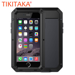 $enCountryForm.capitalKeyWord Australia - Luxury Doom Armor Dropproof Shockproof Metal Aluminum Case + Silicon Protective Cover for iPhone 7 6 6S Plus 5 5s SE Phone Cases