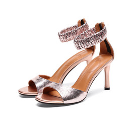 Discount counter button - 2019 Has Nightclub The Thin Toes. High Genuine Leather Sandals Package With Back Zipper Comfortable Woman Shoes Special