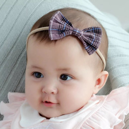 Headbands Bow Australia - NEW Free DHL Multiple Designing Baby Hair Accessories Fashion Girls Hair Bows High Elastic Linen Cotton Strips Hairbandst Infant Headbands