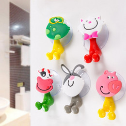 wall mounted toothbrush toothpaste holder 2019 - Toothpaste And Toothbrush Holder 100 Pieces Lot Cartoon Animals Family Sucker Wall Mount Toothbrush Holder Sucker Storag