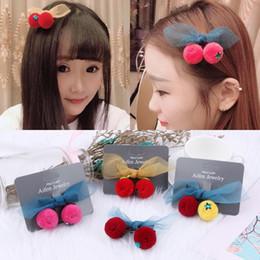 Wholesale Girls Hair Clips Cherry Australia - 1 Pcs Cute Woman cherry Hairpins for Women Girls Hair Clips Accessories Fashion Hairpins Barrettes Bow Flower Hairgrips Headwear