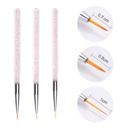 Kits Design Australia - 3Pcs set Nail Art Lines Painting Pen Brush Professional High Quality UV Gel Polish Tips 3D Design Manicure Drawing Tool Kit