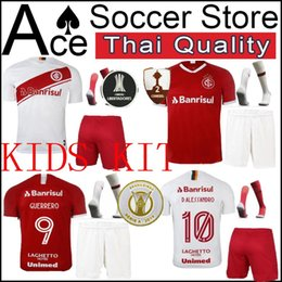 $enCountryForm.capitalKeyWord NZ - New Internacional kids kit 19 20 soccer Jersey Home white away red D ALESSANDRO GUERRERO EDENILSON R DOURADO boy set 2019 2020 child shirt