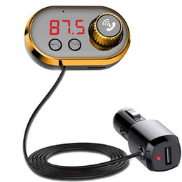 Discount unique mp3 player Bluetooth 5.0 Car Kit FM Transmitter Wireless Bluetooth Car MP3 Player Unique Display Screen TF Music Modulator Handfree