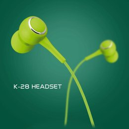 Mobile Interfaces NZ - 5pcs lot Wired headset K-28 for Apple Android smart phone in-ear mobile phone headset 3.5MM interface