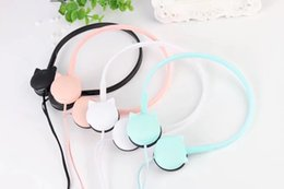 Colored earphone online shopping - Cute Cat Colored Stereo Wired Headphones Headband Headset Earphones for iphone Samsung Xiaomi mp3 Kids Student Birthday Gifts Retail box