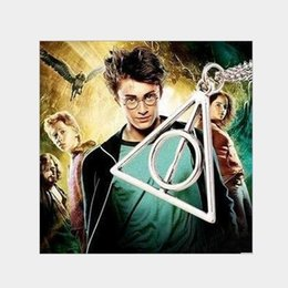 $enCountryForm.capitalKeyWord Australia - Harry Potter Necklace Luna Death Hallows Triangle Round Pendant Clothes With Pendant Birthday Gift Reward Social Wear Necklace