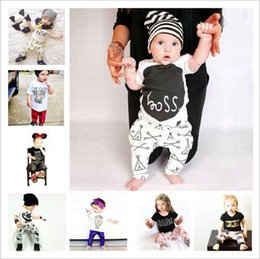 $enCountryForm.capitalKeyWord Australia - Baby Girl Clothes Kids Ins Clothing Sets Floral Cartoon Tops Pants Suits Letter Striped Camo Animal Print T-shirt Pants Outfits 1--3Y A5387