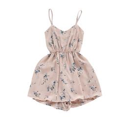 $enCountryForm.capitalKeyWord Australia - Summer 2019 New Style Women Sweet Broken Flower Condole Belt Shows Thin Chiffon Short Dress Cheap Wholesale designer clothes