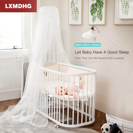 Discount elegant mosquito net canopy - 2019 Baby Children Elegant Lace Bed Dome Elegent Lace House Bed Netting Canopy Circular Bedding Mosquito Net From Russia