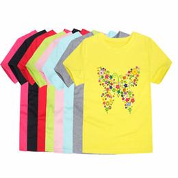 $enCountryForm.capitalKeyWord Australia - 2018 Summer Brand New Baby Girls T Shirts Kids Butterfly Flower T Shirts Children Floral Summer Tops for Girl Tshirt Girl