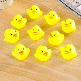 $enCountryForm.capitalKeyWord Australia - Baby Bath Toy Sound Rattle Children Infant Mini Rubber Duck Swimming Bathe Gifts Race Squeaky Duck Swimming Pool Fun Playing Toy A152
