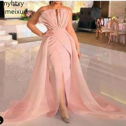 Discount pretty hot dresses - Hot New Arrival Pink Long Evening Dress 2019 Sexy Ever Pretty Robe Soiree Formal Party Gowns Vestido Longo Festa Robe De