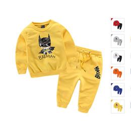 Boys Batman Pants Australia - good quality Batman Boys Girls Sweatshirts + Pants Cotton Fabric Children's Clothing Sets for Autumn Winter Kids Clothes