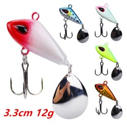 Metal Jigs NZ - 1pcs 5-color 3.3cm 12g Jigs Hook Fishing Hooks Fishhooks Metal Baits & Lures Artificial Bait Pesca Fishing Tackle Accessories
