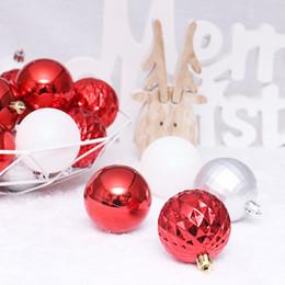 $enCountryForm.capitalKeyWord Australia - 24pcs 8cm Red White Christmas Xmas Ball Bauble Painted Balls Hanging Home Party Tree Ornament Gift Christmas Decorations Balls