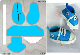 designer shoes baby 2020 - Baby shoes die muyu cutting die-- new wooden mould cutting dies for scrapbooking MY3952 cheap designer shoes baby