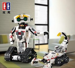 missile toys NZ - SY DIY RC Robot Building Blocks Toys, 2 in One Robot& Battle Scorpion, Launching Missiles, Spin Tail, for Party Kid Christmas Birthday Gifts