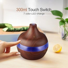 ElEctric aromathErapy diffusEr light online shopping - Electric Aroma diffuser wood Ultrasonic humidifier ml USB Essential oil Aromatherapy air diffuser LED Lights for home