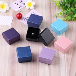 Box Jewelry Storage Organizer Black Australia - 24Pcs Square Jewelry Box with Black Sponge Eco Friendly Jewelry Organizer Small Gift Storage Box For Ring Earrings Pendant 5x5cm
